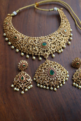 Cutwork AD Oval Drop Pendant set