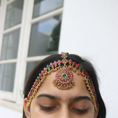 Ruby Green Matte Headpiece