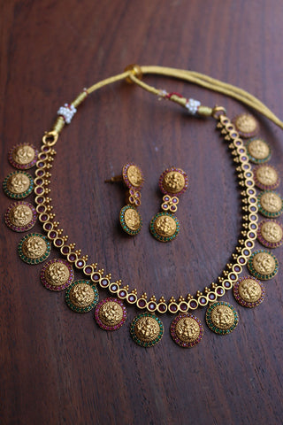 Matte Short Lakshmi Coin Set
