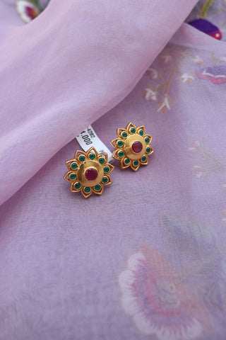 92.5 Silver Gold Sunflower Studs
