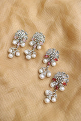 92.5 Silver two Line Ruby Necklace