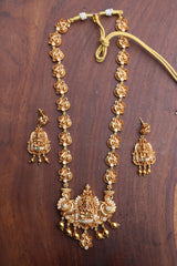 Lakshmi Peacock AD Pendant Long Necklace 1