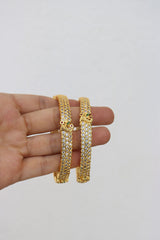 White Stone set of 2 Bangles