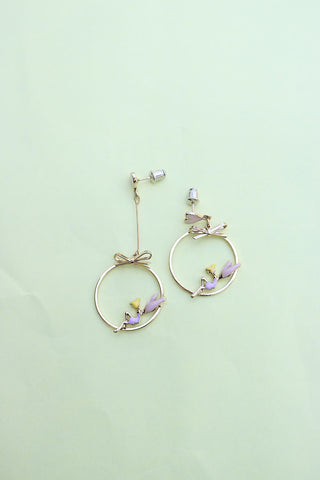 Heart Long Short Earrings