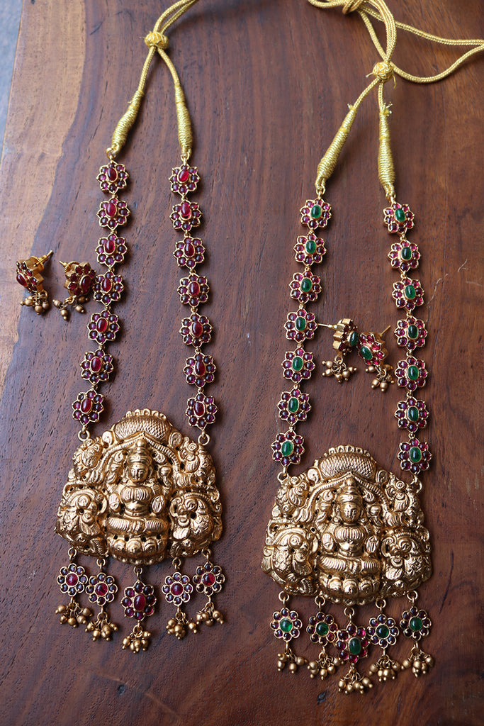 Matte Lakshmi Statement Short Necklace