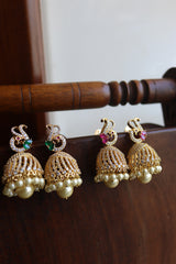 AD Peacock Curve Small Jhumkas