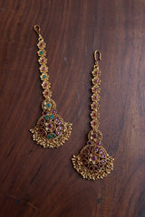 Paisley Flower Cluster Gold Teeka