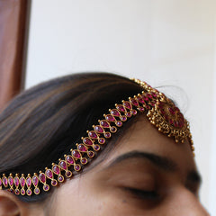 Matte Tear Drop Chaand Headpiece