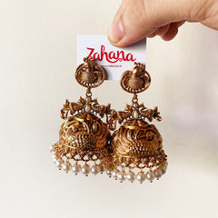 Stunning Peacock Statement Jhumkas