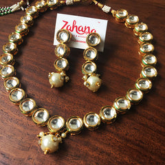 Single Line Kundan Set