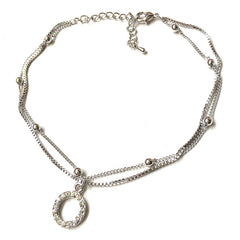 Silver Polo anklet