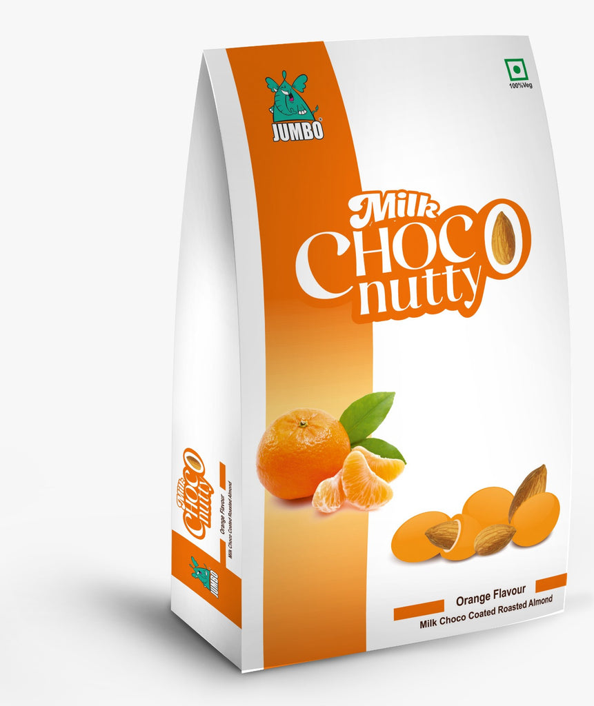 JUMBO ORANGE MILK CHOCO NUTTY 100G TREAT PACK
