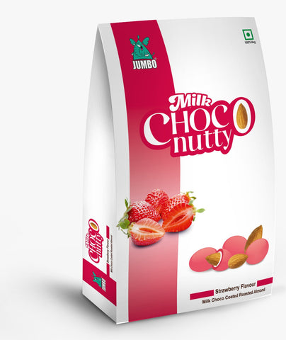 JUMBO STRAWBERRY MILK CHOCO NUTTY 100G TREAT PACK