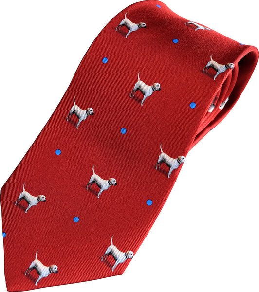 'Harry & ball' red Neck Tie