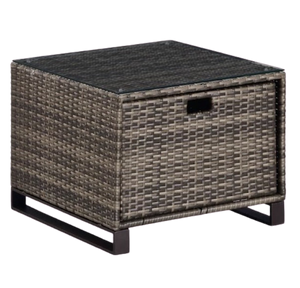Rattan Storage Table