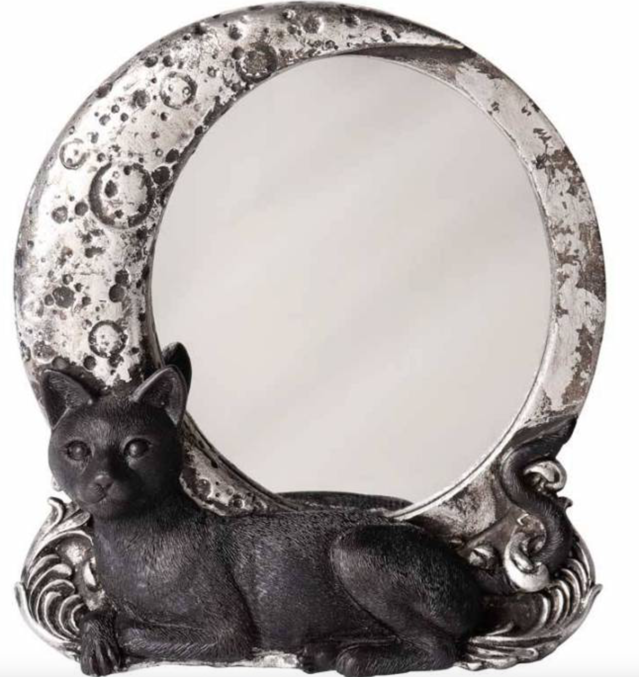 Miroir Chat Wall compact night cat mirror Alchemy Gothic