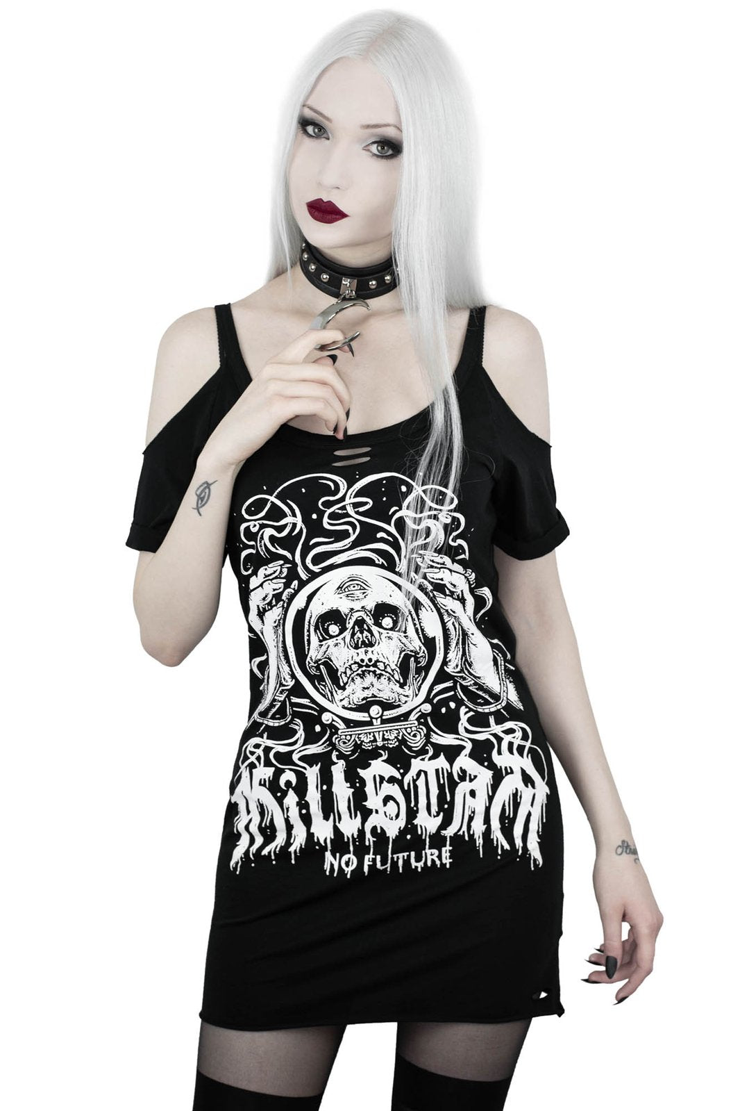 KILLSTAR Clairvoyant Distressed Top