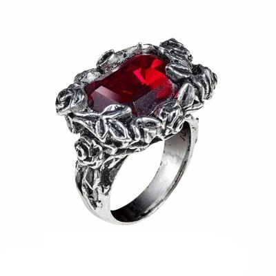 "Bague Alchemy Gothic ""Blood Rose"""