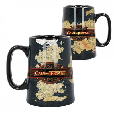 Chope Tankard Céramique Game of Thrones Map