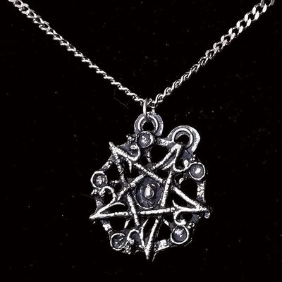 "Collier Gothique Arcana XIII ""Antique Pentagram"""