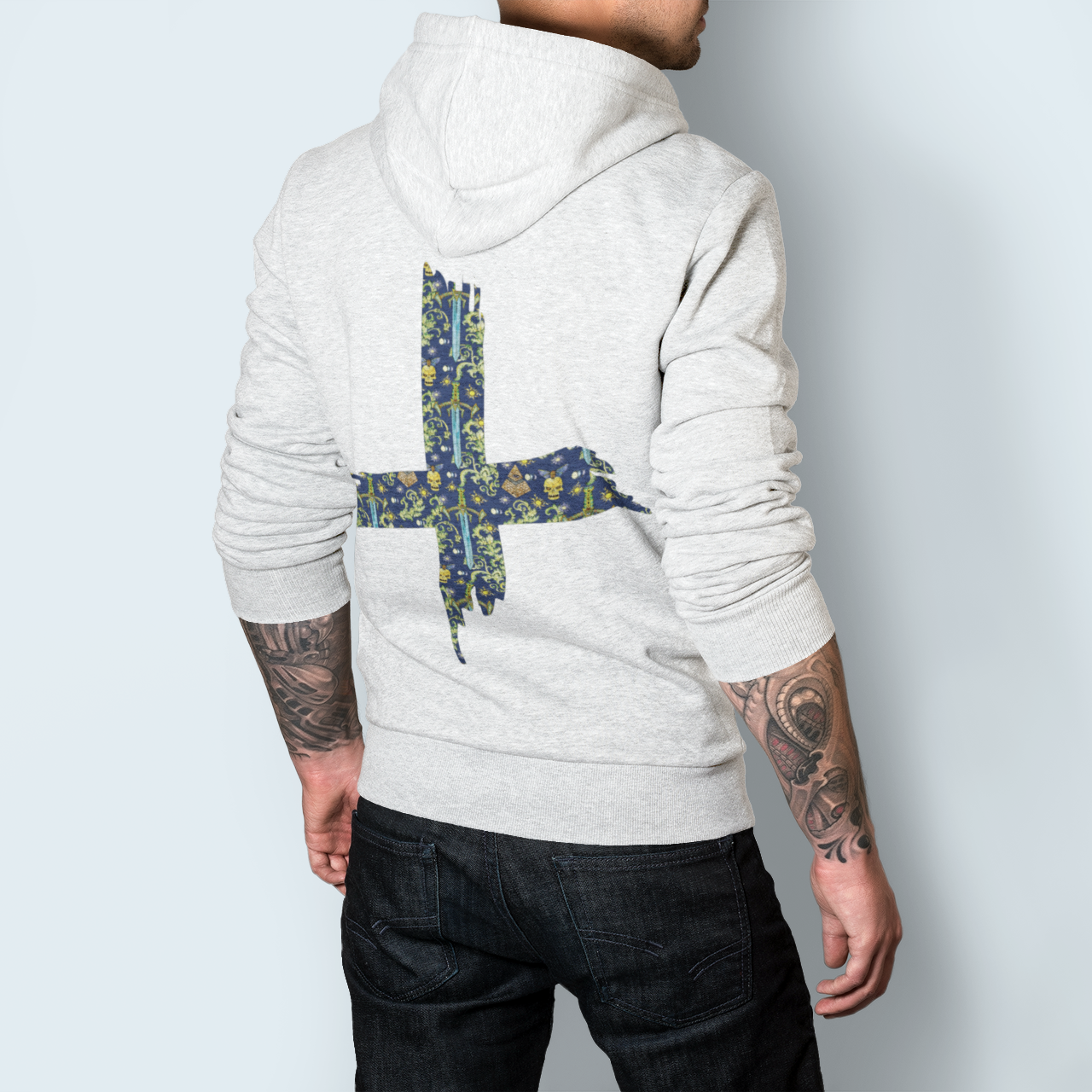 Sweat Capuche Reverse Cross Sword