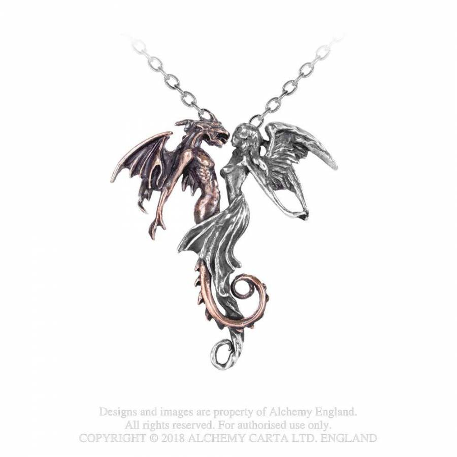 "Collier Alchemy Gothic ""The Chemical Wedding"" DRAGON"