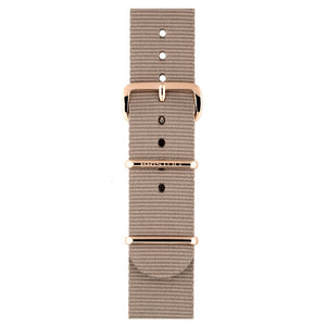 Taupe PVD Or Rose - Bracelet type NATO 245mm