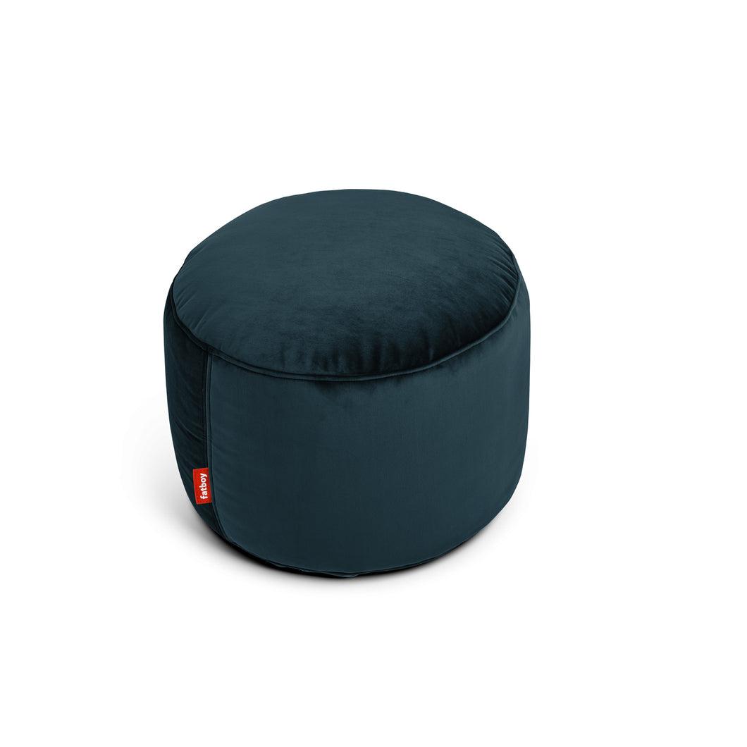 Point Velvet - Pouf en Velours Bleu Pétrole