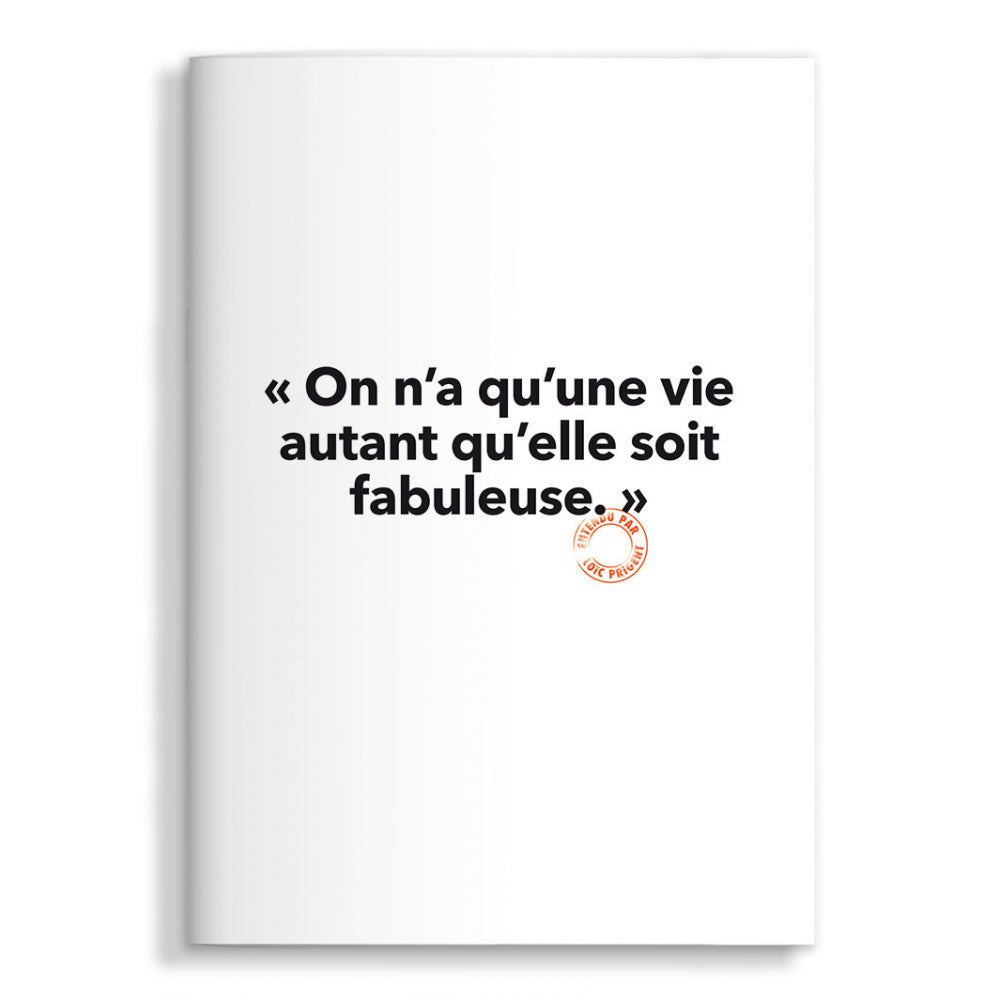 On n'a qu'une vie - Carnet - Collection