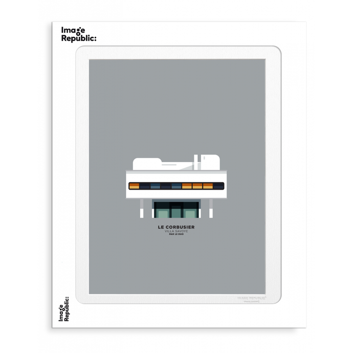 Illustration par le Duo - Villa Savoye Le Corbusier - Image Republic