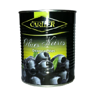 CARTIER OLIVES NOIRES DENOYAUTEES 850gr CAN (PITTED BLACK)