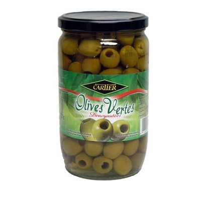 CARTIER OLIVES VERTES DENOYAUTEES 720gr BOCAL (PITTED GREEN)