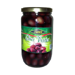 CARTIER OLIVES VIOLETTES ENTIÈRES 720gr BOCAL (RED OLIVES)