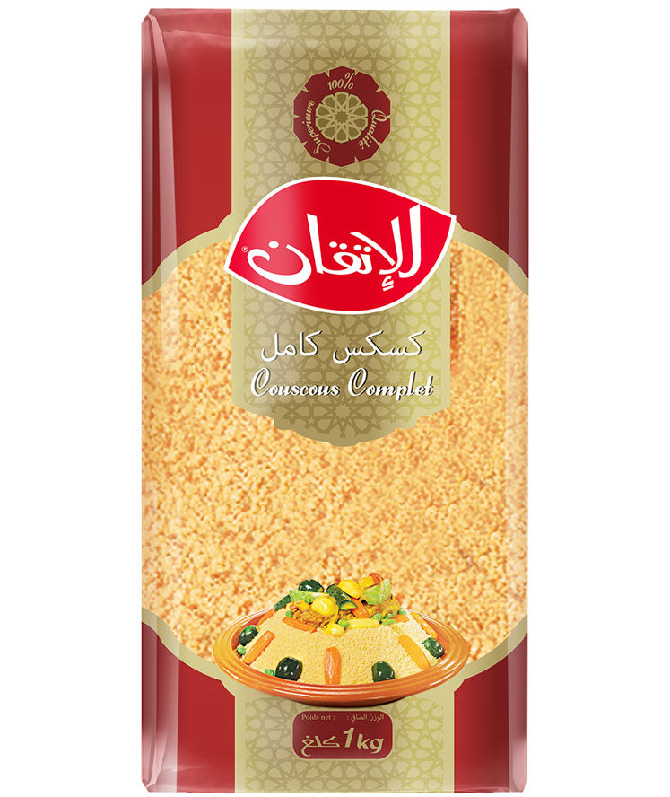 ALITKANE COUSCOUS COMPLET 1kg  (Whole Wheat/القمح الكامل)