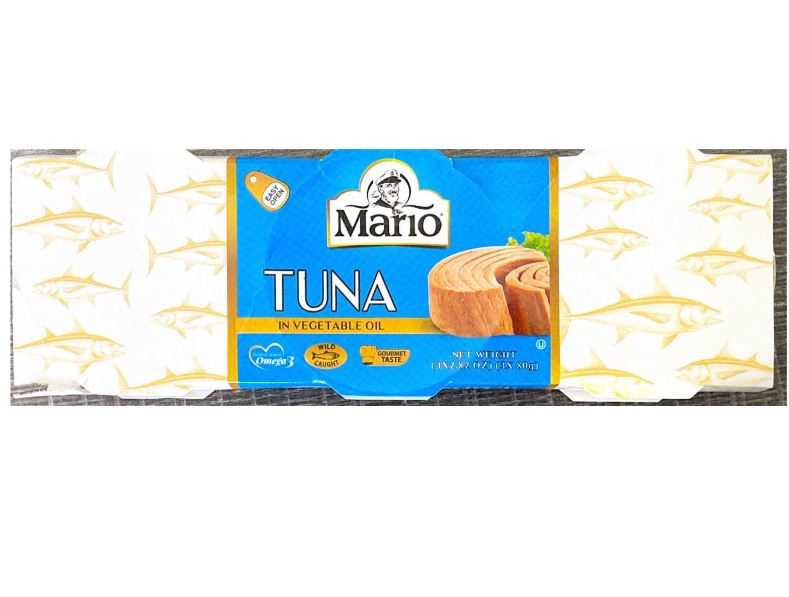 MARIO THON A L'HUILE VEGETALEE 3x80gr (Tuna in Vegetable Oil)