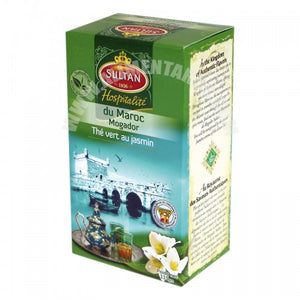 SULTAN Thé Vert Chaara au Jasmin 100g - COLLECTION HOSPITALITÉ (Green tea Chaara with Jasmine)