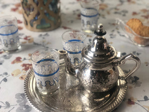 Pack Moroccan Tea Essentials - Small (Teapot, tray and Glasses)