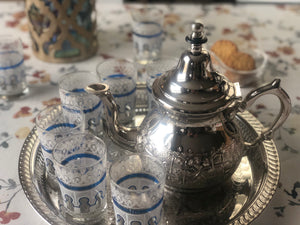 Pack Moroccan Tea Essentials - Extra Large (Teapot, tray and Glasses)
