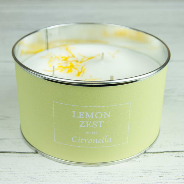 Lemon Zest With Citronella Multi Wick Tin Candle