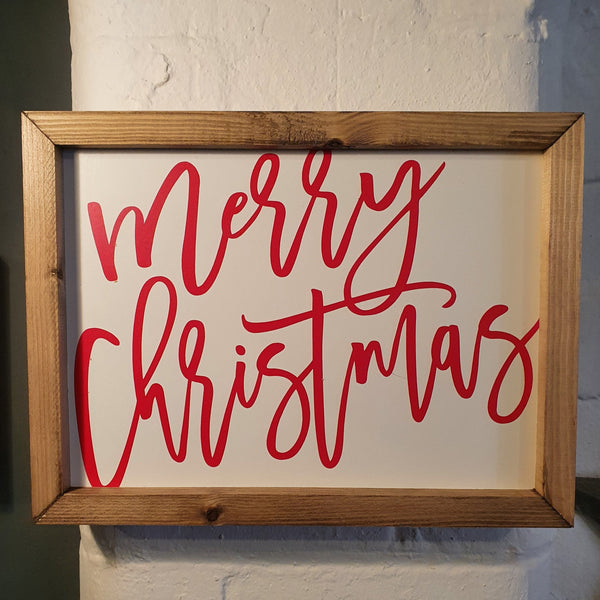 Merry Christmas Wall Sign - Knot 2 Shabby Uk