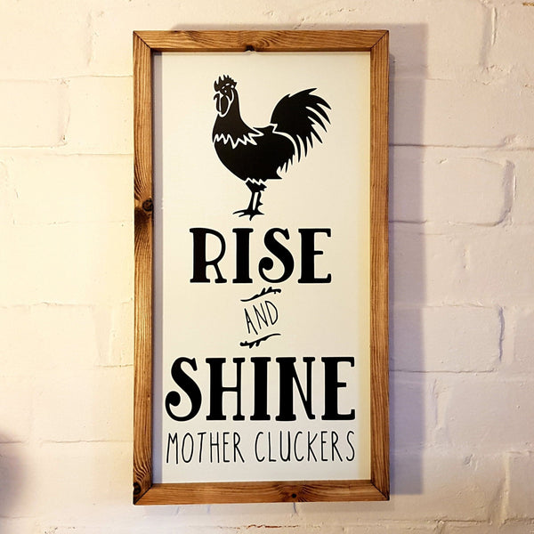 Rise and Shine Wall Sign - Knot 2 Shabby