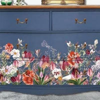 Hokus Pokus Rub-On Furniture Transfer - Tulip Fields - 94cm x 60cm Landscape Design - Knot 2 Shabby