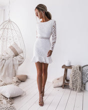 Load image into Gallery viewer, Backless White Lace Dress