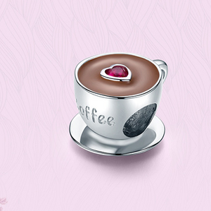 Sterling Silver Coffee Cup Charm