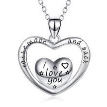 Load image into Gallery viewer, I Love You Sterling Silver Necklace
