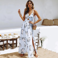 Load image into Gallery viewer, Floral Halter Maxi Dress