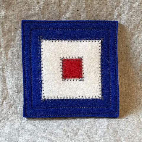 International Maritime Signal Flag Coaster W
