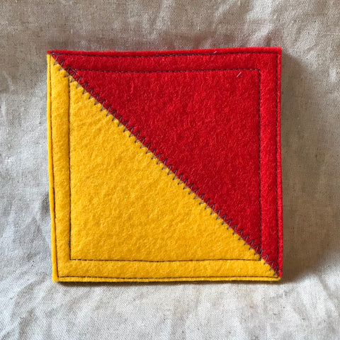 International Maritime Signal Flag Coaster O