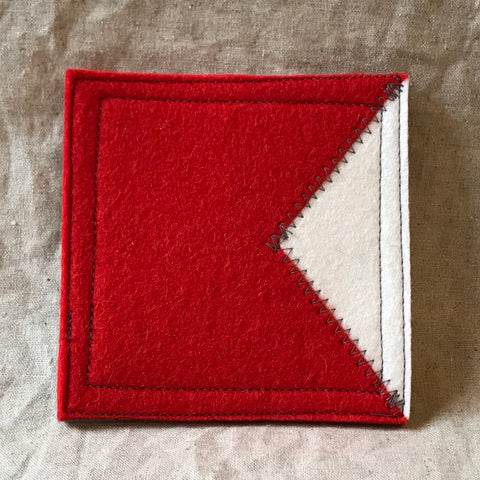 International Maritime Signal Flag Coaster B