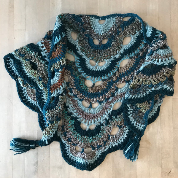 Crocheted Scarf or Wrap